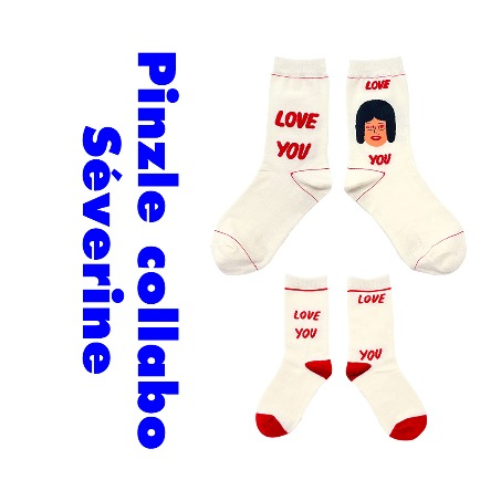 I hate Monday X Pinzle_세브린 아수 'Love You' Family Set [15% SALE]