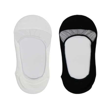 See through Fake Socks White/Black [60% SALE]